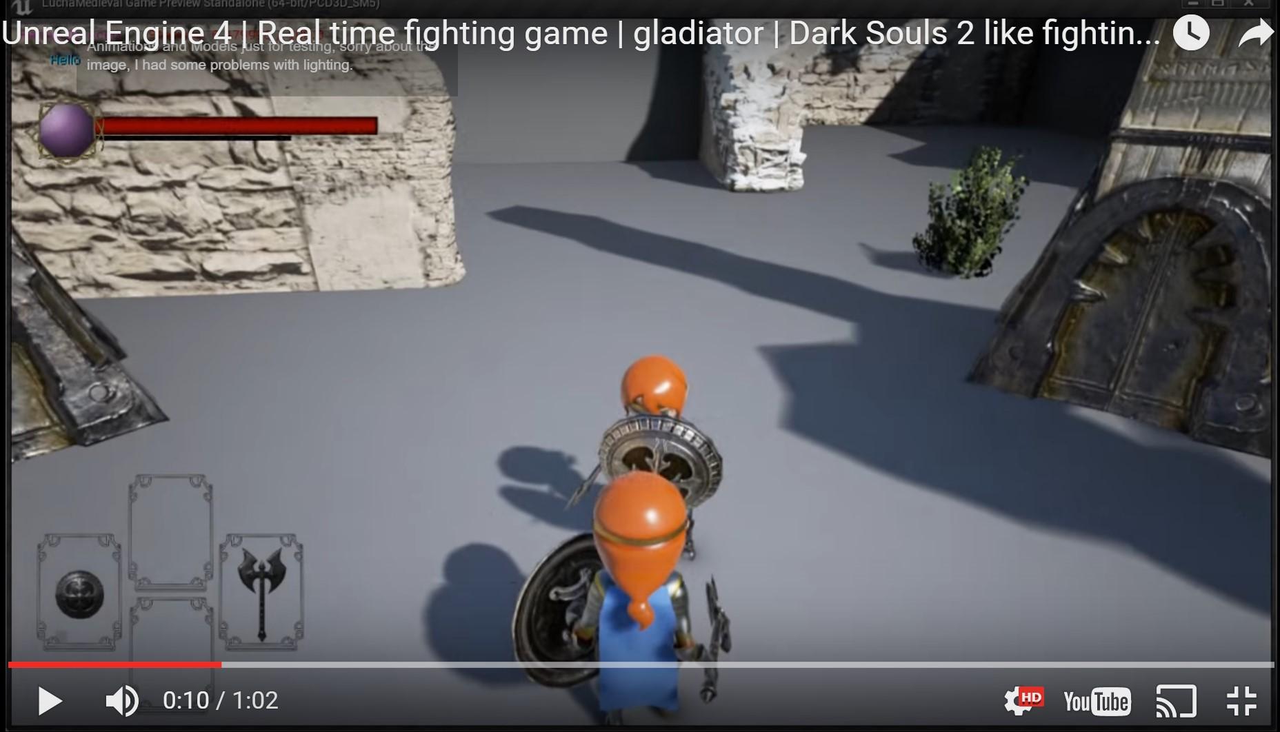 unreal engine fighting system gladiators