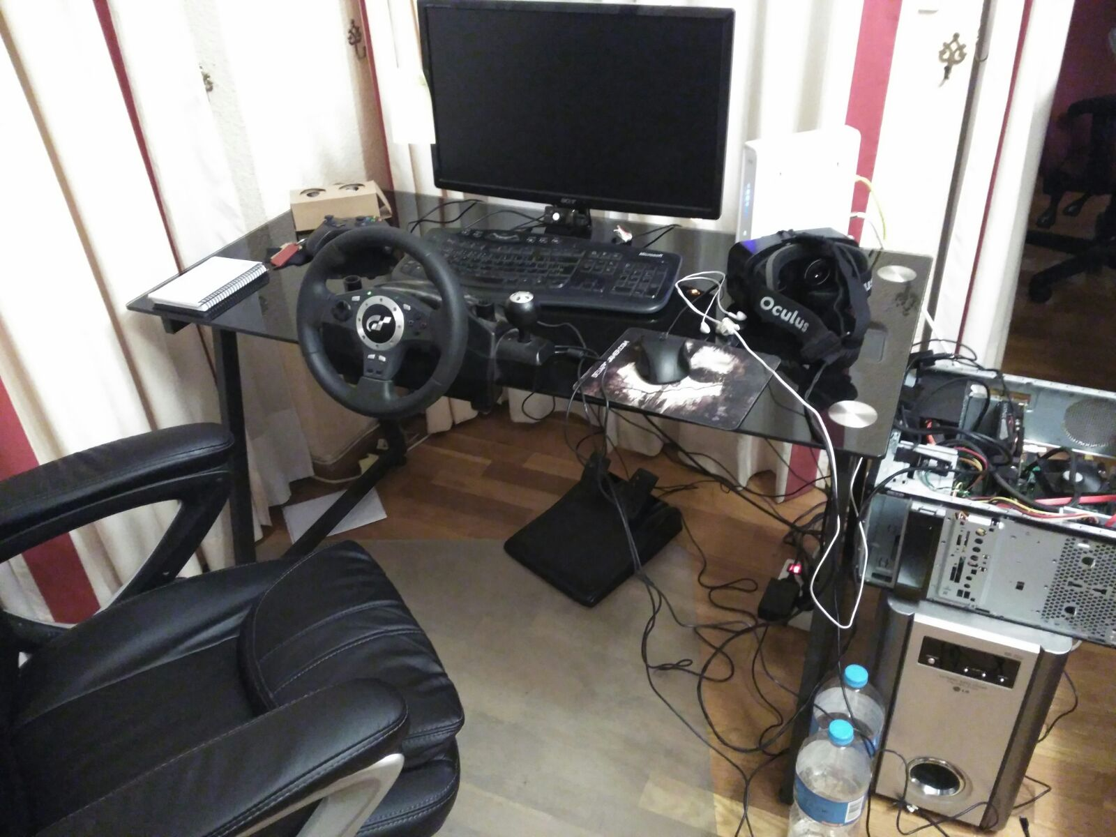 unreal engine 4 oculus rift vr with steering wheel