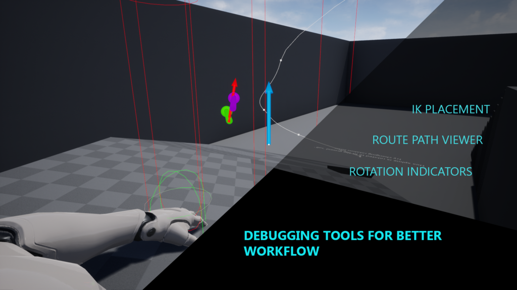 Preview of crawling system debug for unreal engine 4
