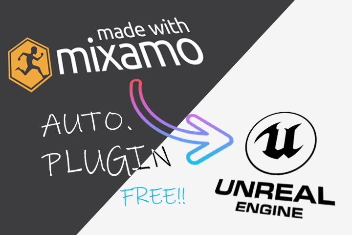 promo image for mixamo to unreal engine 3ds max script